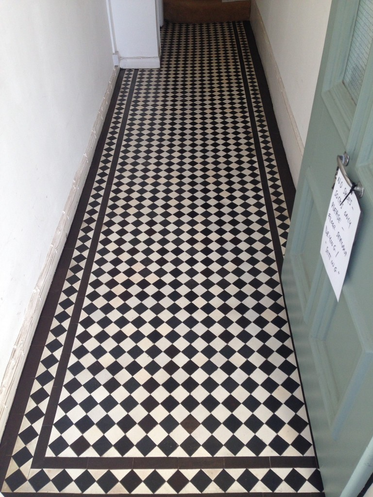 Victorian Tiled Hallway After Restoration Swiss Cottage