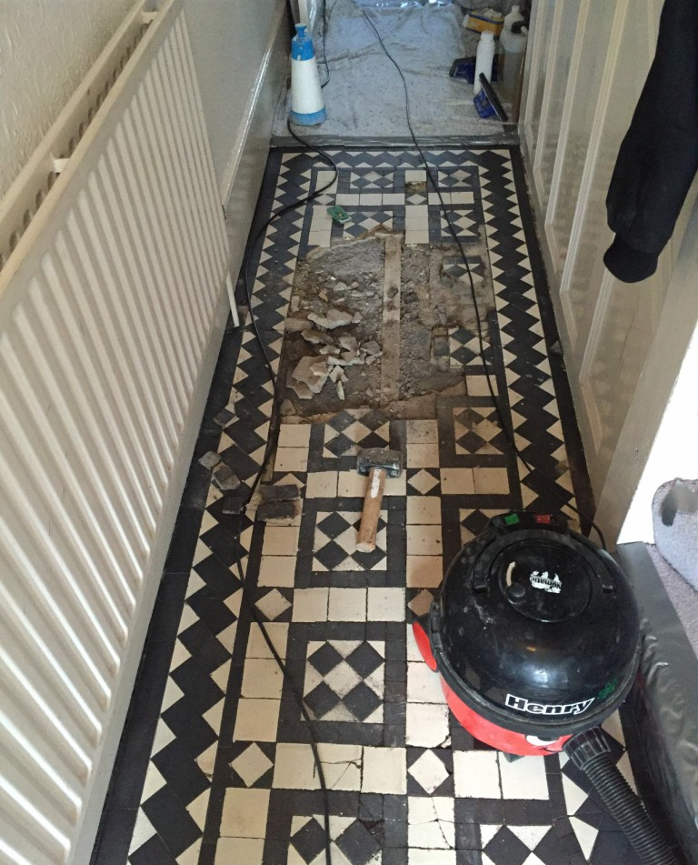 Rebuilding A Victorian Tiled Hallway Cleaning And Maintenance