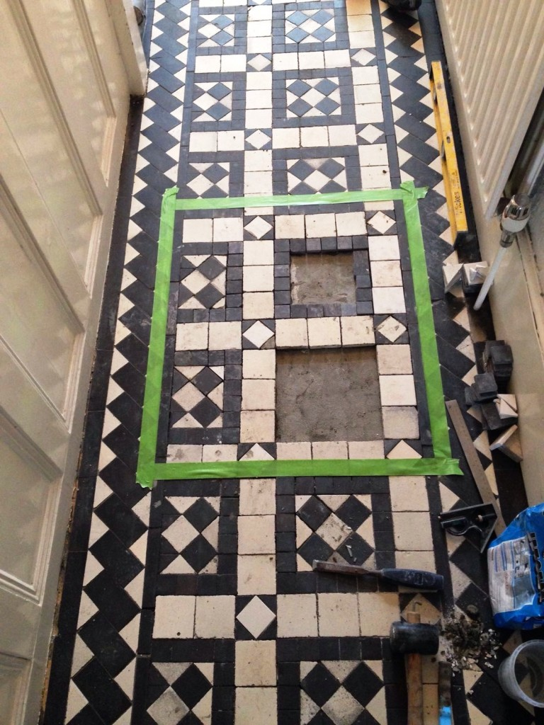 Victorian Tiles During Replacement Stoke Newington