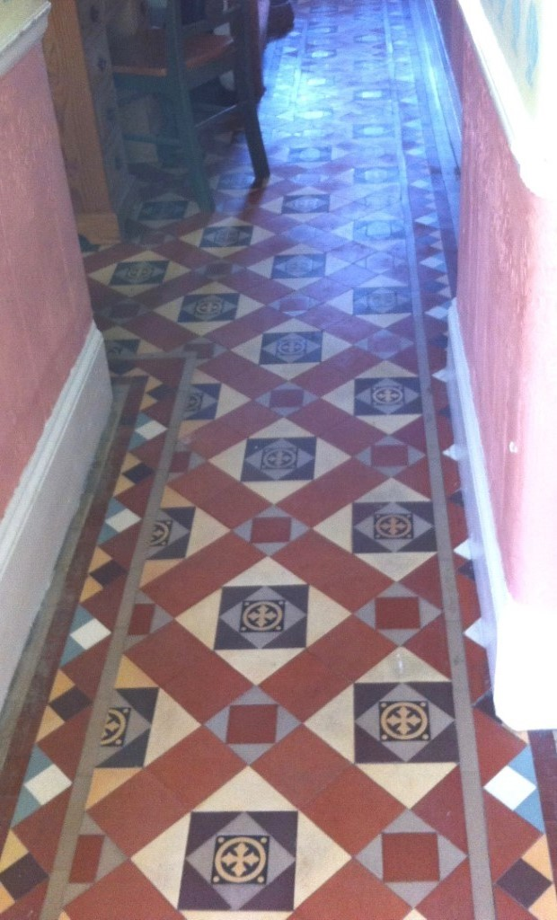 Palmers Green Edwardian Hallway Before Cleaning