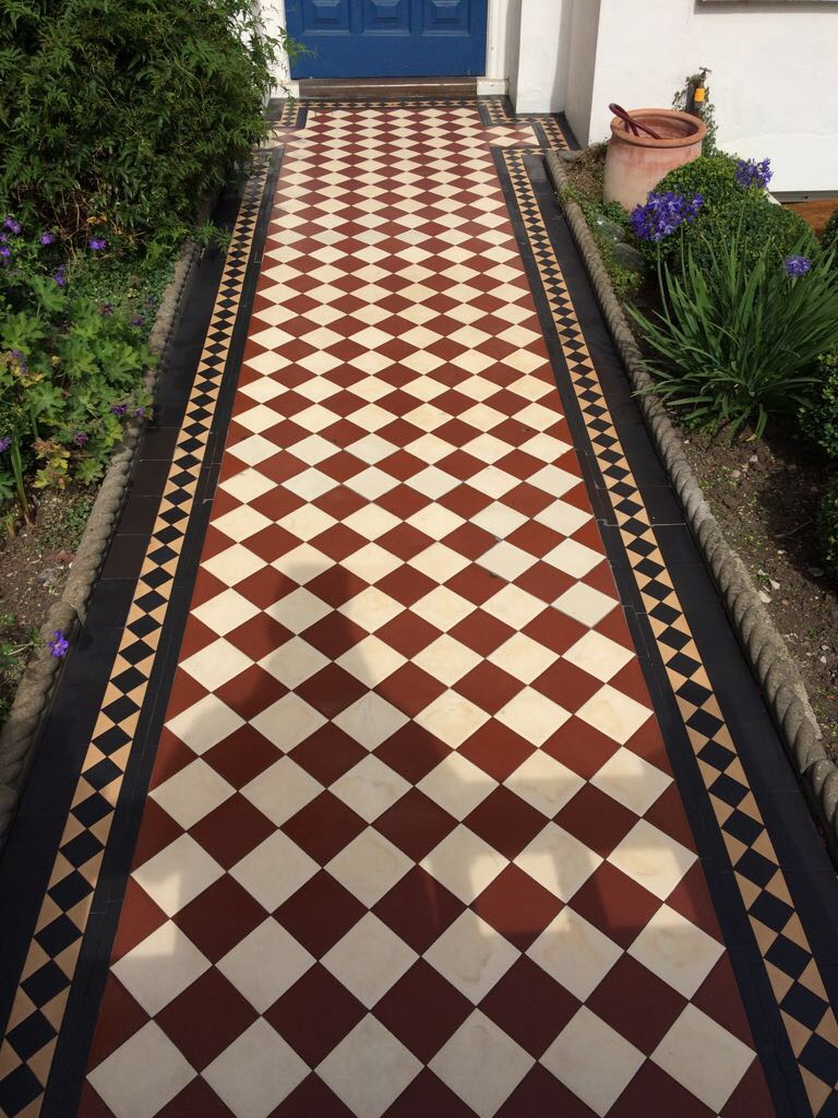 Edwardian Clay Pathway Barnet After Cleaning