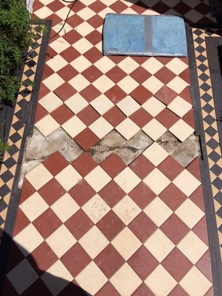 Edwardian Clay Pathway Barnet Before Cleaning
