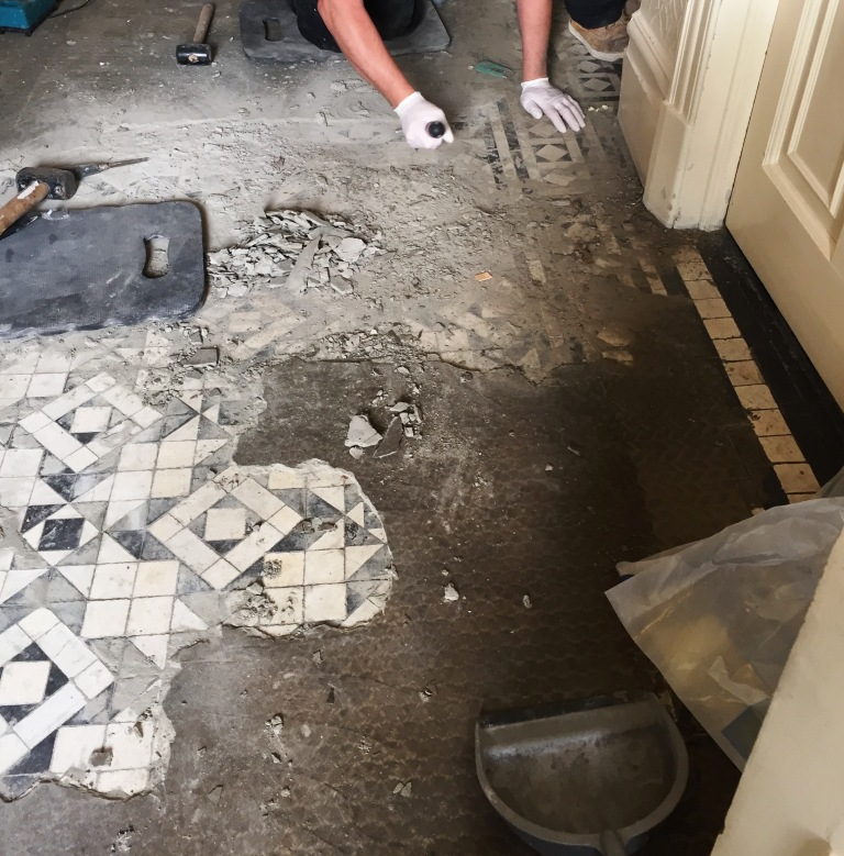 Victorian Tiled Hallway Restoration In North London Cleaning And