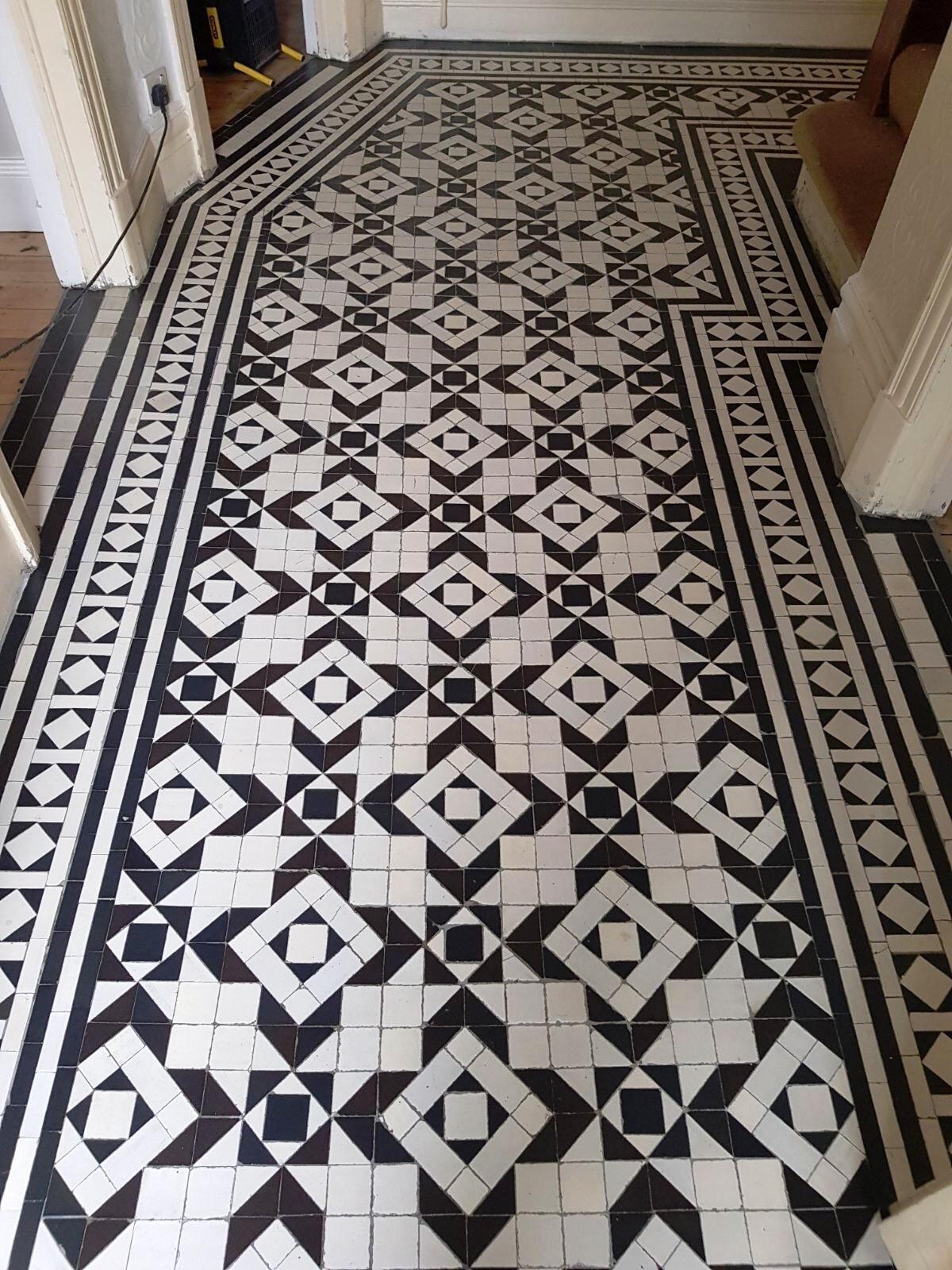 Victorian Tiled Hallway Floor After Full Restoration in Woodford Green