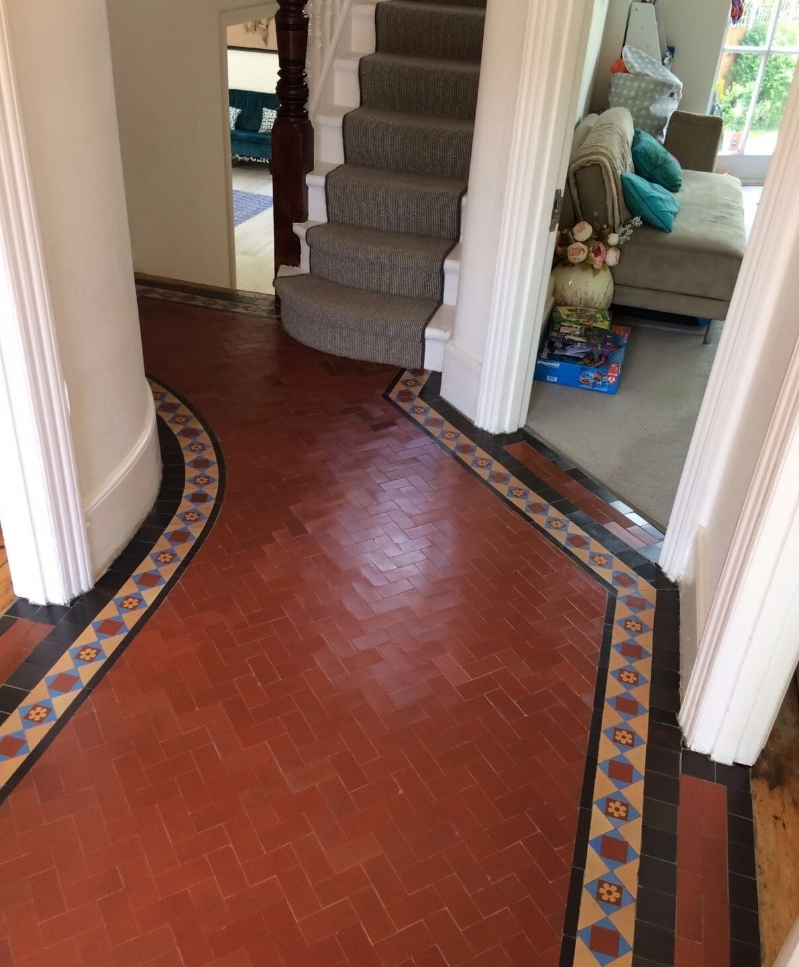 Edwardian Hallway Floor After Restoration Crouch End