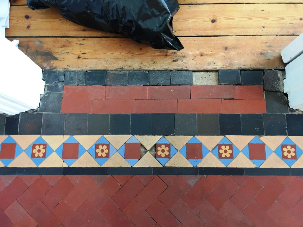 Edwardian Hallway Threshold Before Restoration Crouch End