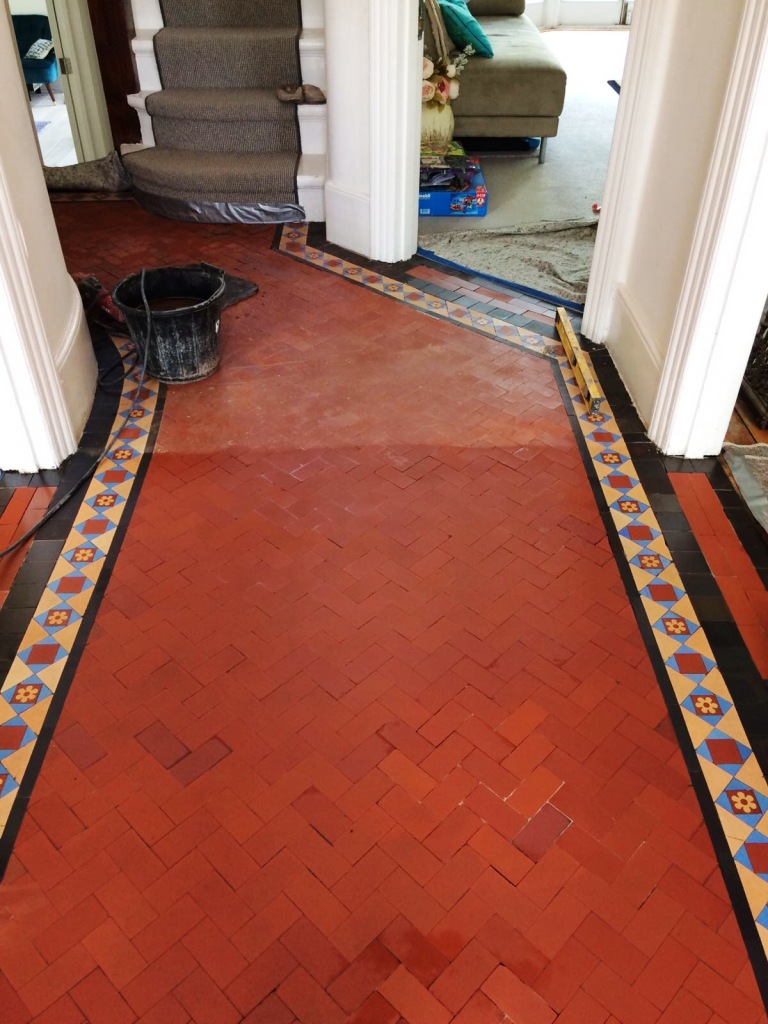 Edwardian Hallway Threshold During Sealing Crouch End