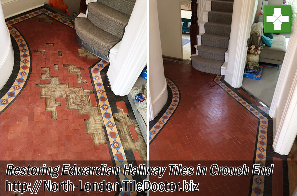 Restoring Edwardian Hallway Tiles in Crouch End