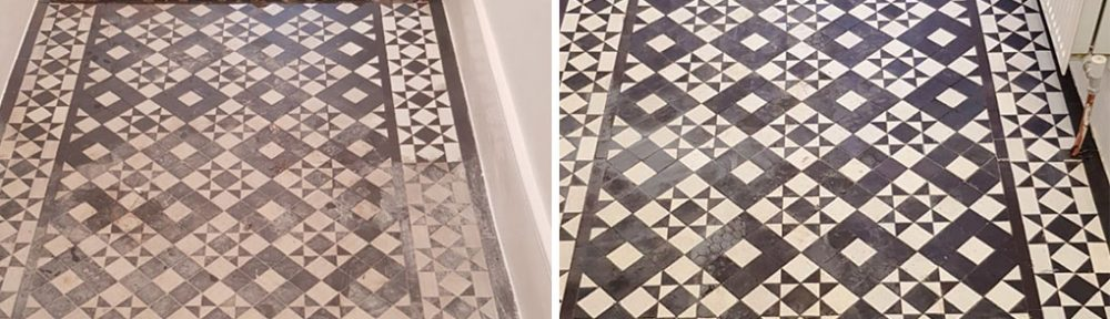 Restoring a Damaged Victorian Tiled Hallway in Winchmore Hill
