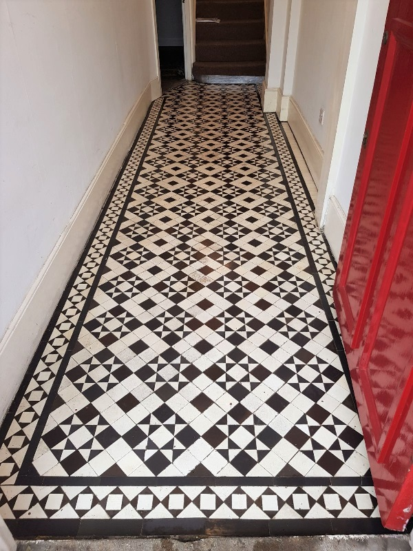 Victorian Hallway After Restoration and Repair Bounds Green