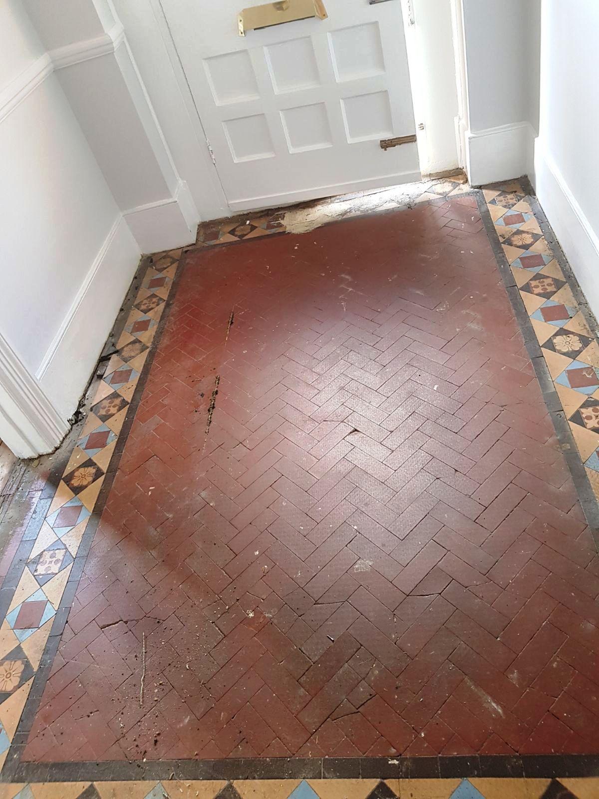 Edwardian Hallway Before Restoration Muswell Hill