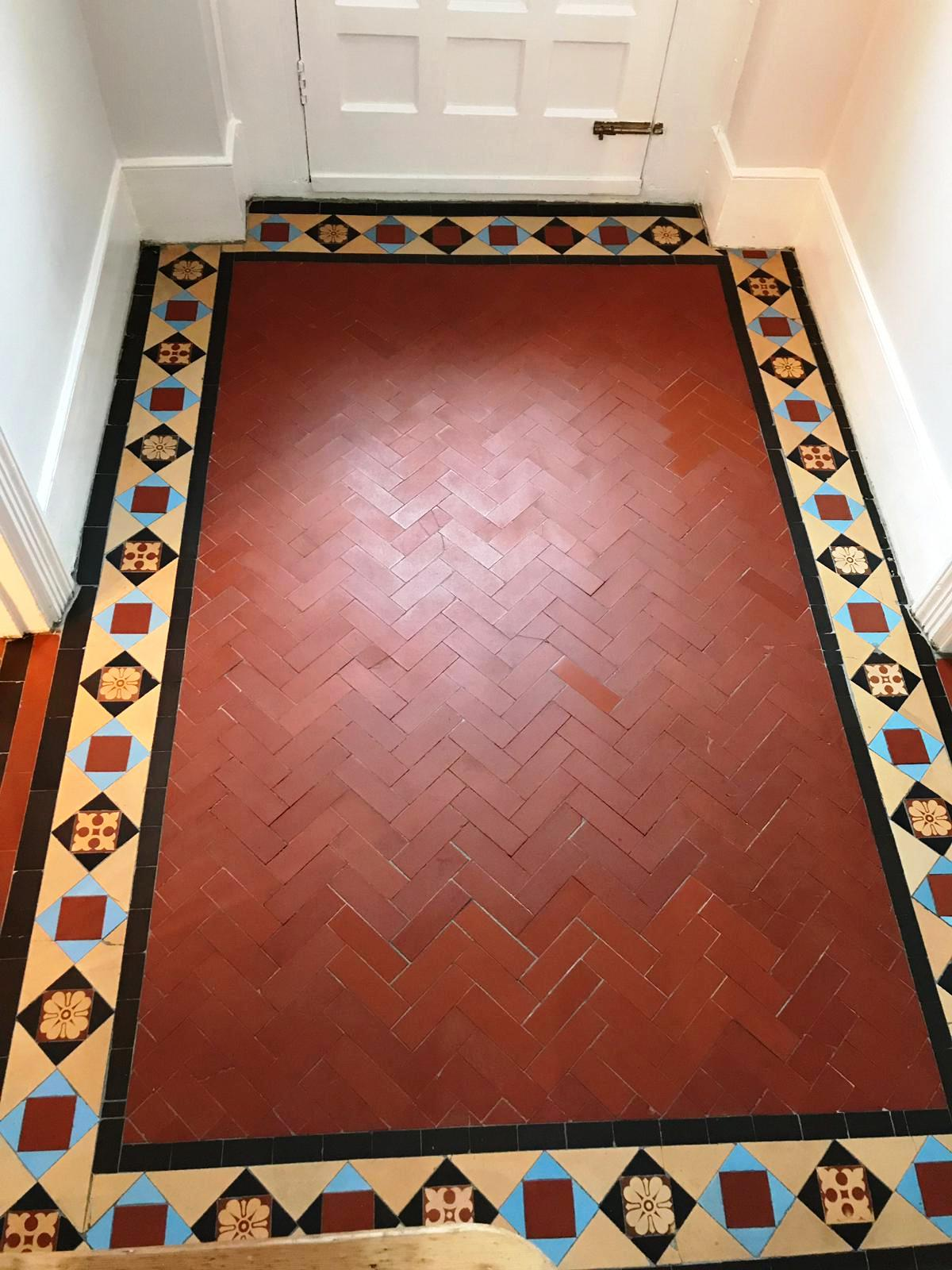 Edwardian Hallway After Sealing Muswell Hill