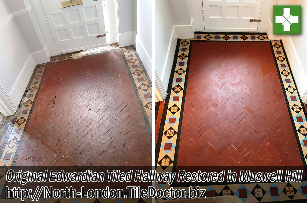 Victorian Tiled Hallway Restoration Muswell Hill