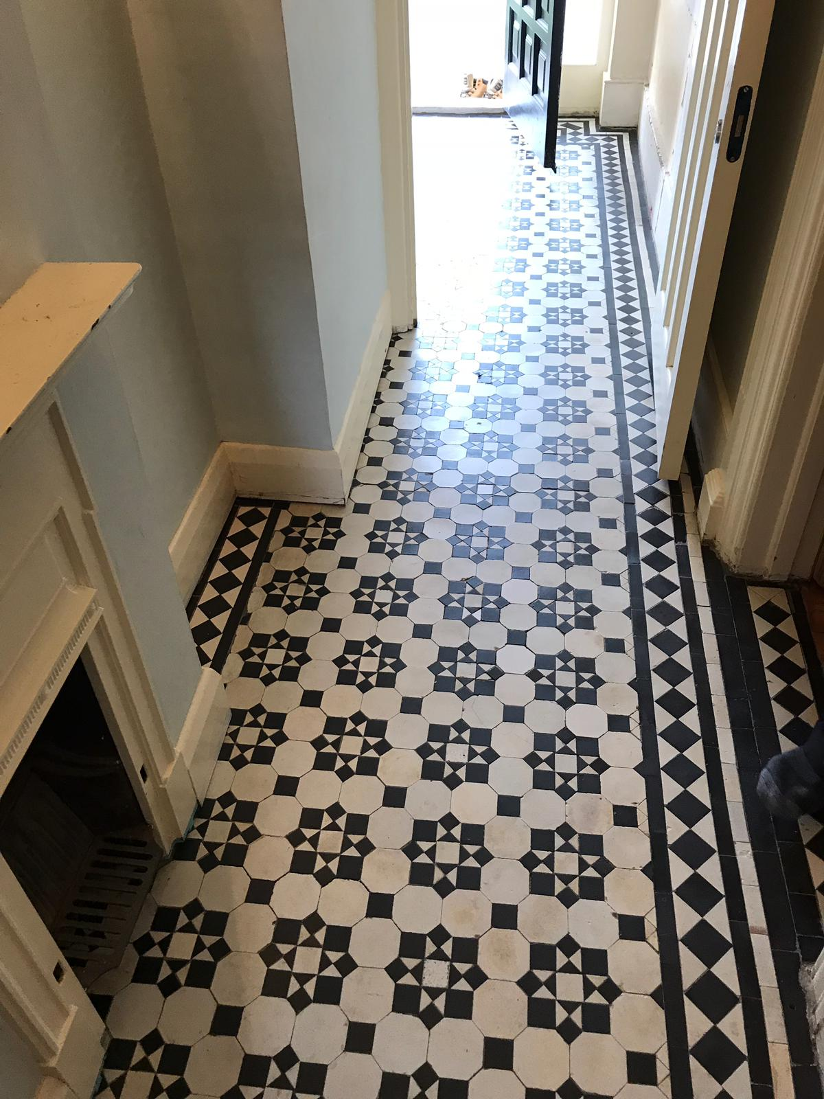 Victorian Tiled Hallway After Cleaning Palmers Green