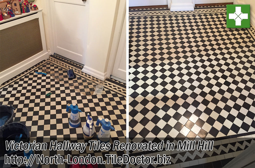 Victorian Hallway Tiles Before After Renovation Mill Hill