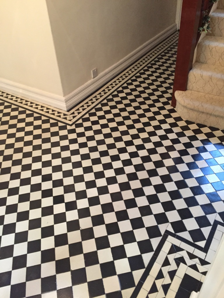 Victorian Tiled Hallway Restoration After Cleaning Mill Hill