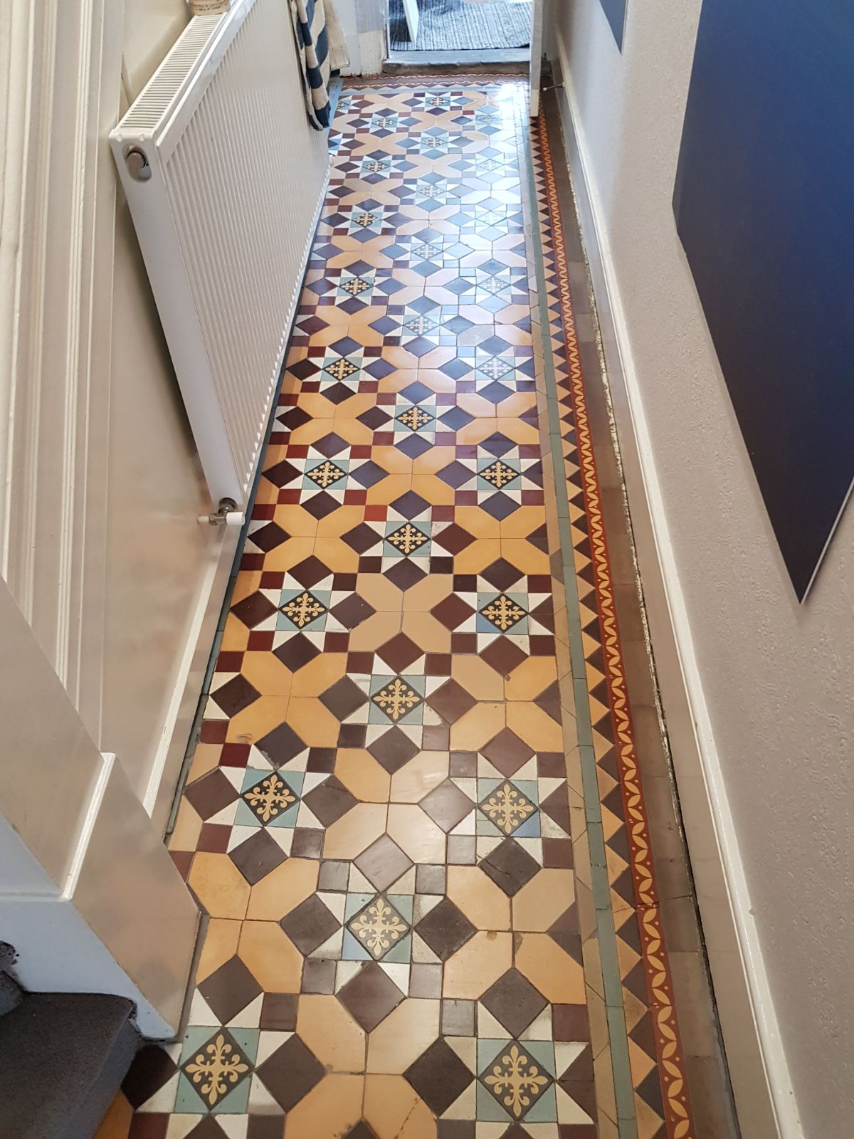 Edwardian Tiled Hallway After Restoration Finchley