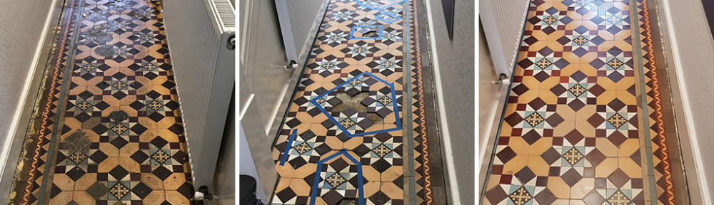 Restoration of an Edwardian Tiled Hallway in Finchley