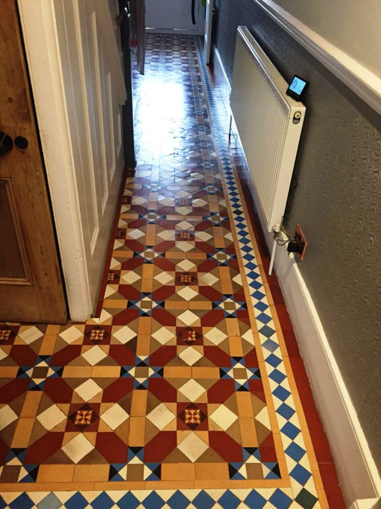Victorian Hallway Floor Tile After Restoration Camden