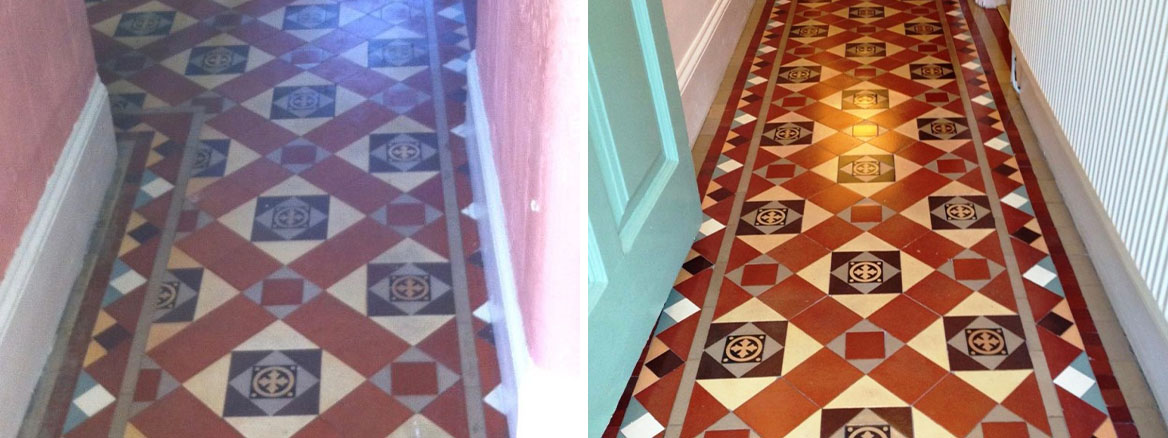 Palmers Green Edwardian Hallway Before and After Cleaning
