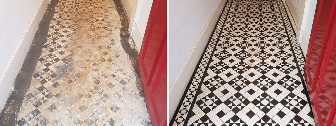 Tessellated Victorian Hallway Restoration in Bounds Green, North London