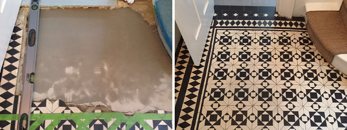 Rebuilding a Damaged Victorian Tiled Hallway in Islington