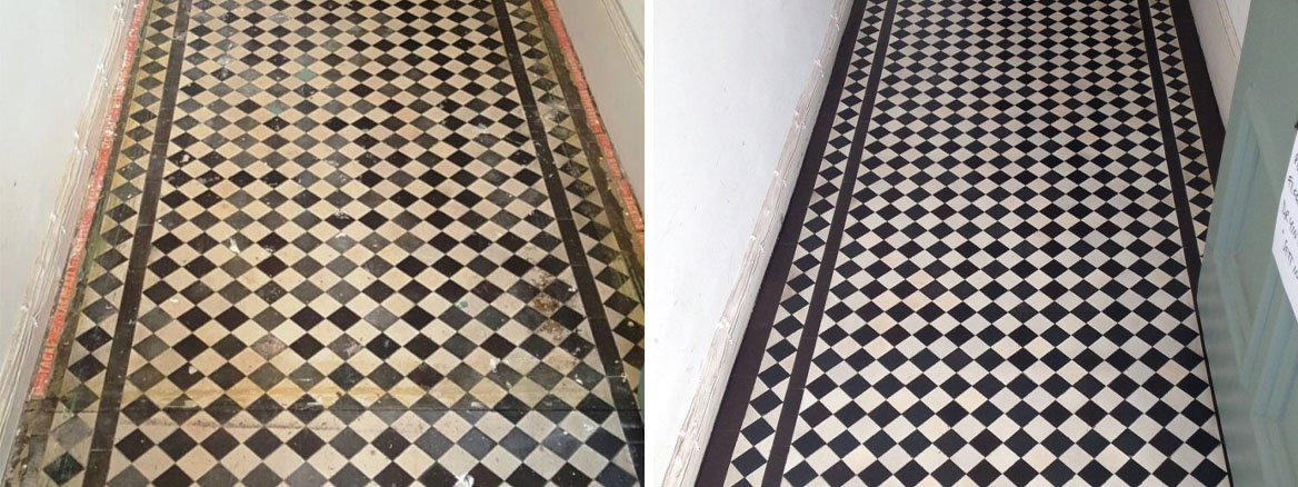 Restoring a Victorian Tiled Hallway in Swiss Cottage