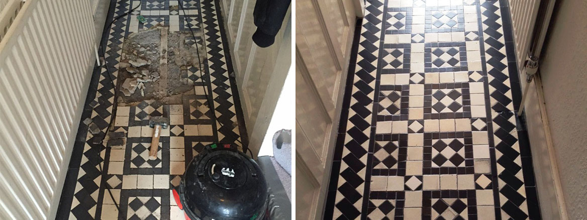 Restoring a Victorian Tiled Hallway in Stoke Newington