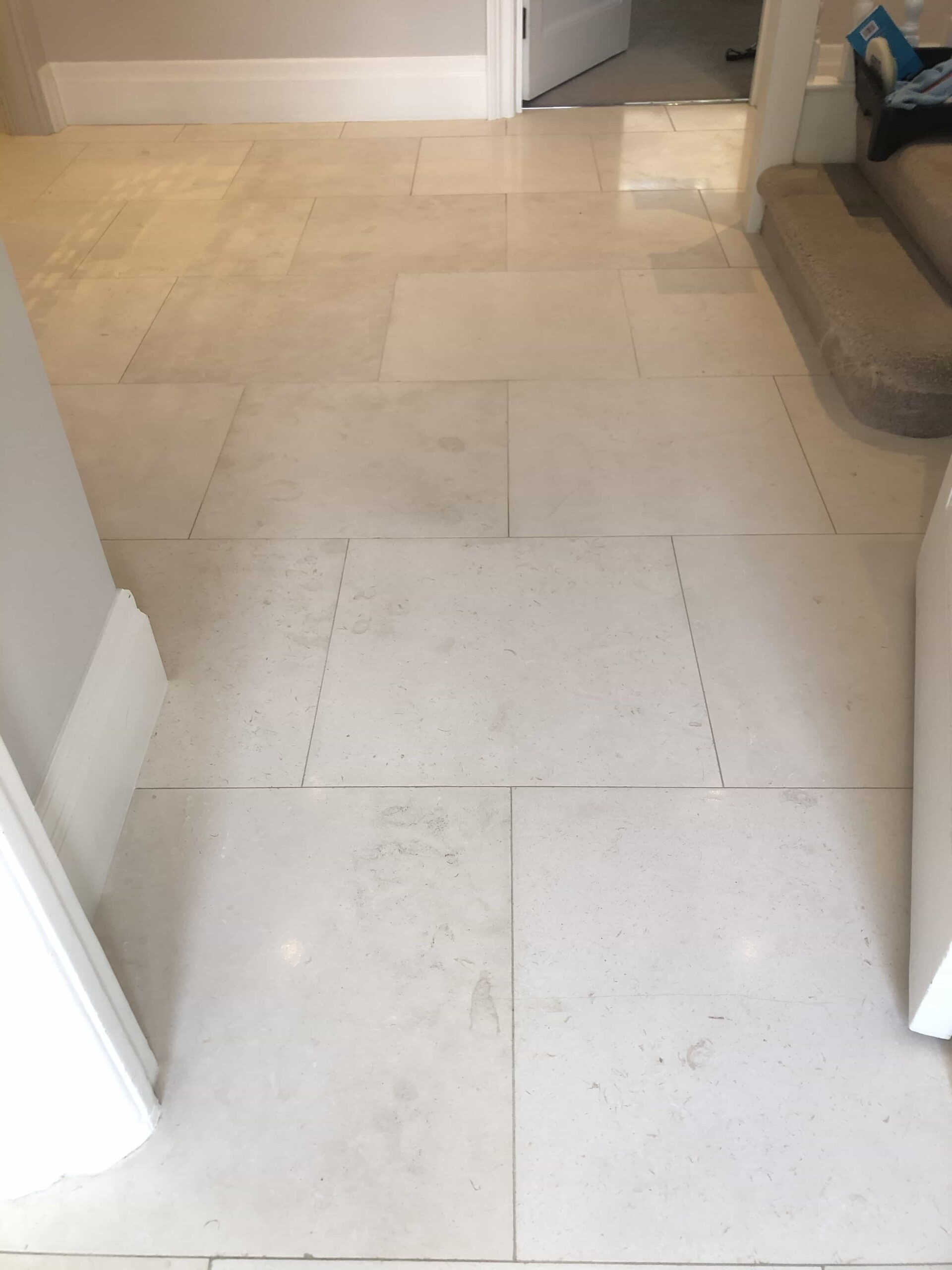 Honed Limestone Floor After Renovation Highgate