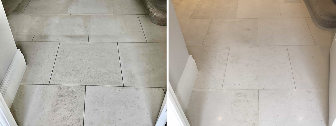 Renovating a Grubby Limestone Floor in Highgate