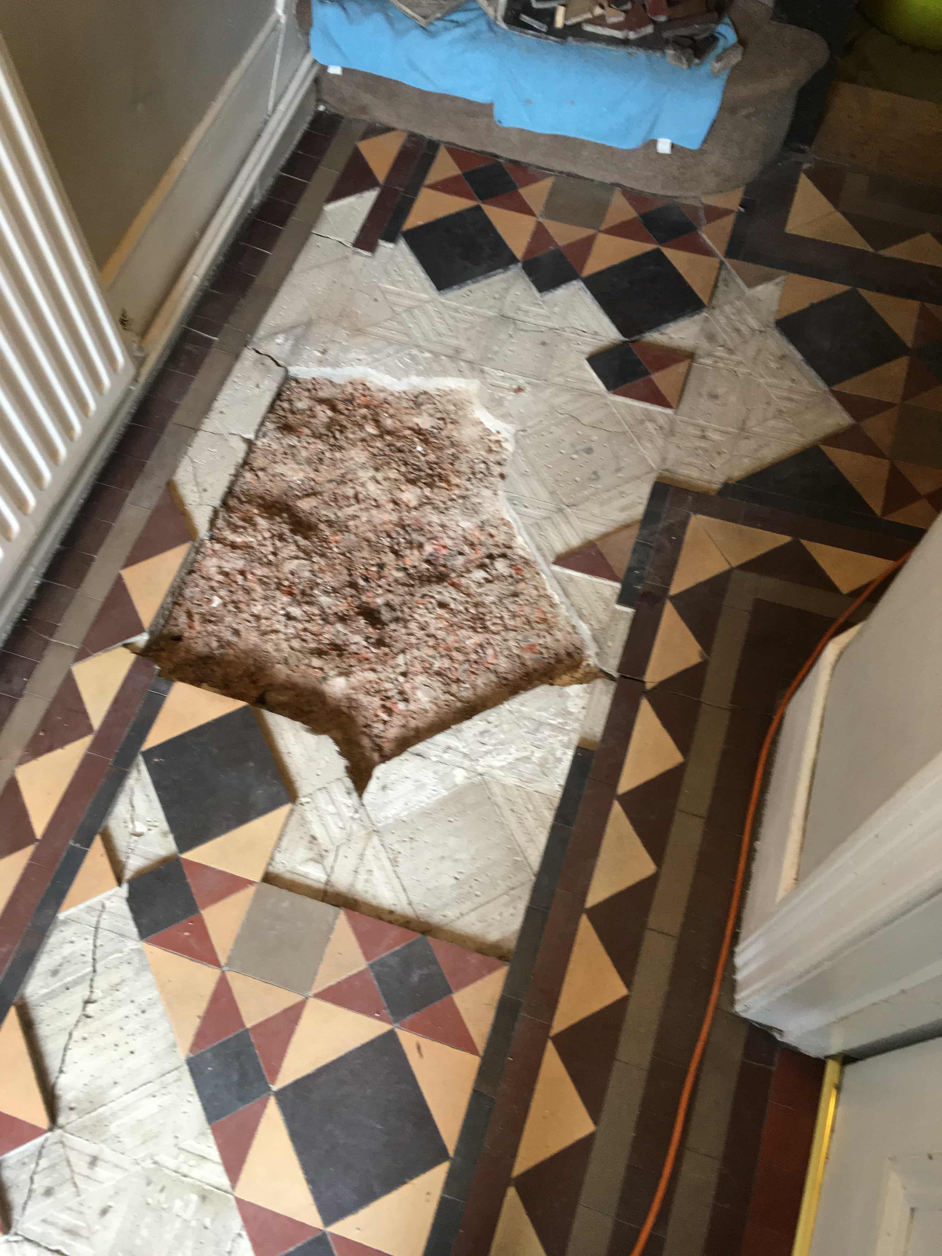 Victorian Floor Before Restoration Turnpike Lane N2