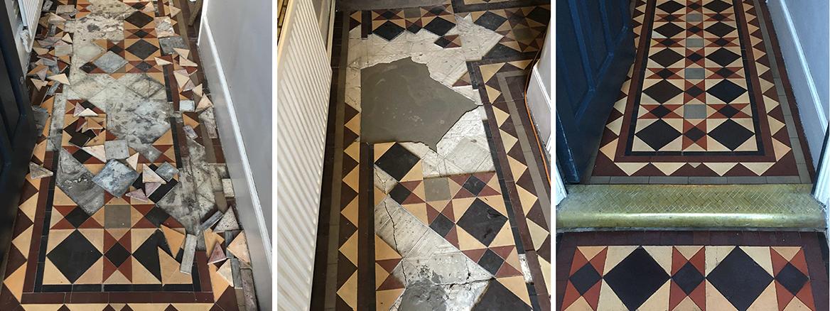 Victorian Hallway Floor Rebuilt in Haringey
